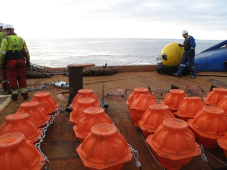 Nautilus Buoys Ready for deployment on 1km mooring